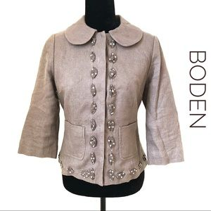 Boden Woven Tweed Jacket Blazer